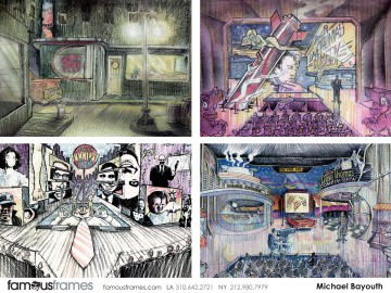 Michael Bayouth*'s Environments storyboard art