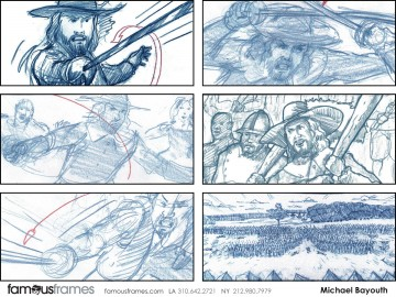 Michael Bayouth*'s Action storyboard art