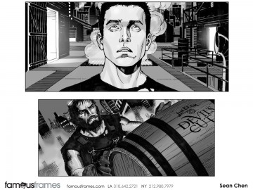 Sean Chen's People - B&W Tone storyboard art