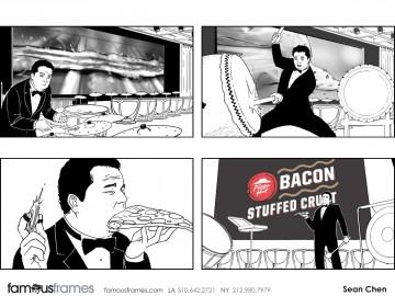 Sean Chen's People - B&W Line storyboard art