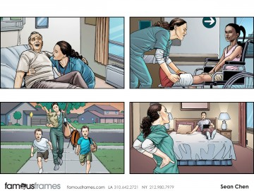 Sean Chen's People - Color  storyboard art