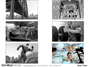 Sean Chen's Sports storyboard art