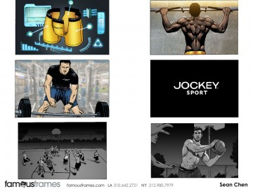 Sean Chen's Action storyboard art