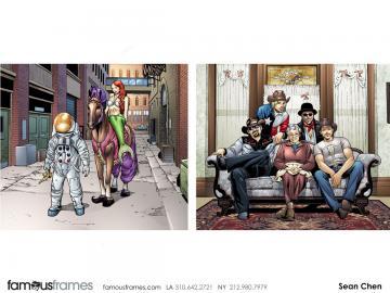 Sean Chen's Comic Book storyboard art
