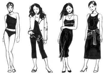 Sean Chen's Beauty / Fashion storyboard art