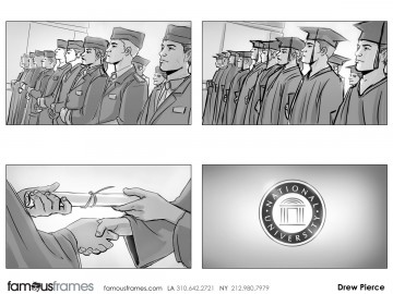 Drew Pierce's People - B&W Tone storyboard art
