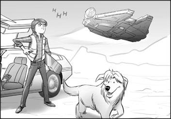 Drew Pierce's People - B&W Tone storyboard art