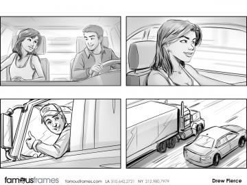 Drew Pierce's People - B&W Line storyboard art