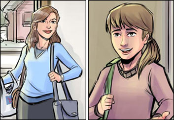Drew Pierce's People - Color  storyboard art