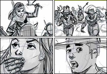 Drew Pierce's Shootingboards storyboard art