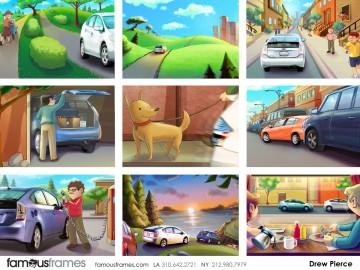 Drew Pierce's Vehicles storyboard art