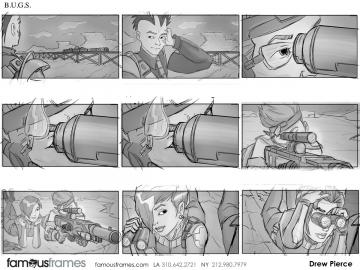 Drew Pierce's Video Games storyboard art