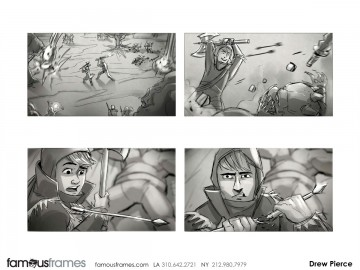 Drew Pierce's Action storyboard art