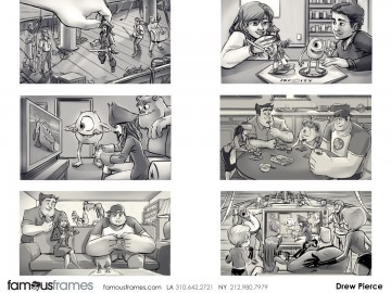 Drew Pierce's Characters / Creatures storyboard art