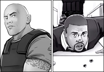 Drew Pierce's Likenesses storyboard art