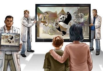 Nick Randall's Conceptual Elements storyboard art