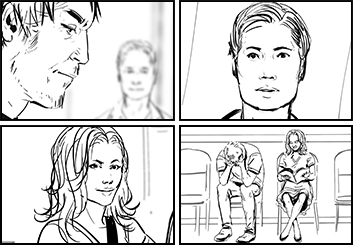 Lee Milby's People - B&W Line storyboard art