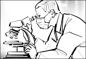Lee Milby's People - B&W Line storyboard art