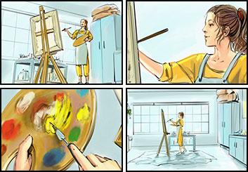 Lee Milby's People - Color  storyboard art