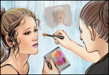 Lee Milby's Beauty / Fashion storyboard art