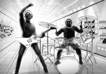 Jeremiah Wallis's People - B&W Tone storyboard art