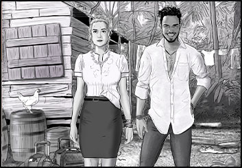 Jeremiah Wallis's People - B&W Tone storyboard art