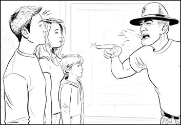 Jeremiah Wallis's People - B&W Line storyboard art