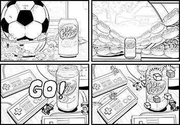 Jeremiah Wallis's Food storyboard art