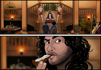 Jeremiah Wallis's People - Color  storyboard art