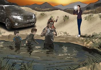 Jeremiah Wallis's Environments storyboard art
