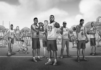 Lidat Truong's People - B&W Tone storyboard art
