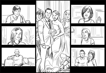 Lidat Truong*'s People - B&W Tone storyboard art