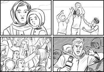 Lidat Truong*'s People - B&W Line storyboard art