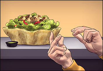 Lidat Truong*'s Food storyboard art