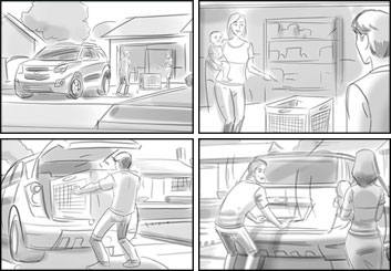 Lidat Truong's Vehicles storyboard art