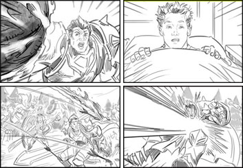 Lidat Truong's Video Games storyboard art