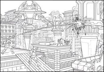 Lidat Truong's Architectural storyboard art