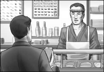 Lidat Truong's People - B&W Tone storyboard art