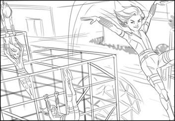 Lidat Truong's People - B&W Line storyboard art