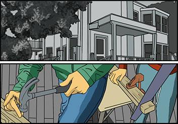 Josh Adams's Architectural storyboard art