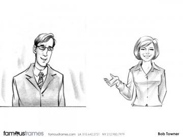 Bob Towner's People - B&W Tone storyboard art