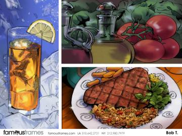 Bob Towner's Food storyboard art