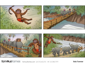 Bob Towner's Wildlife / Animals storyboard art