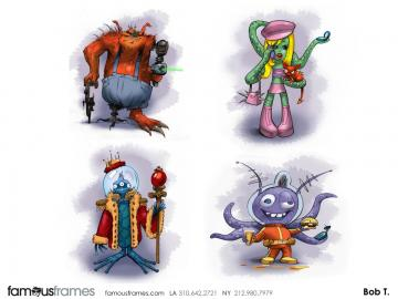 Bob Towner's Characters / Creatures storyboard art