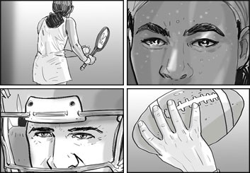 Collin Grant*'s People - B&W Tone storyboard art