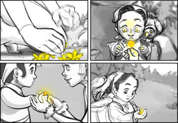 Denice Au's Animation storyboard art