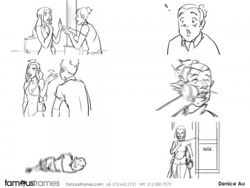 Denice Au's Shooting Animation  storyboard art