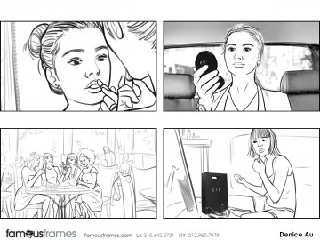 Denice Au's Beauty / Fashion storyboard art