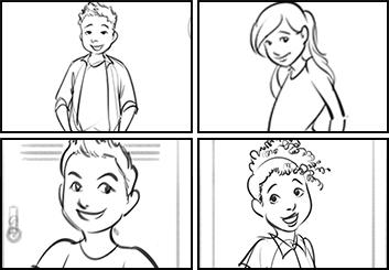 Denice Au's Kids storyboard art