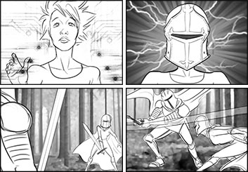 Denice Au's Action storyboard art